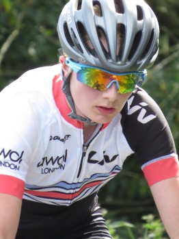 Hannah Bayes looking very cool on climb at local Scarborough Nationals round (photo: Phil Moir)