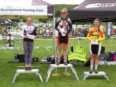 Iona Moir 2nd place at first CX London League (photo: Phil Moir)
