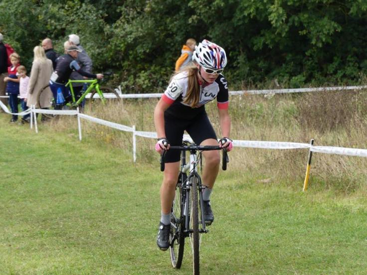 Iona Moir 3rd in Youth category at Eastern CX (photo: Sue Moir)