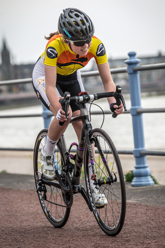 Zoe Brookes in Time Trial at North West Tour