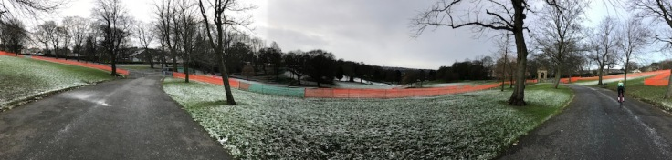 Bradford course - all quiet on pre-race day (photo: Phil Moir)
