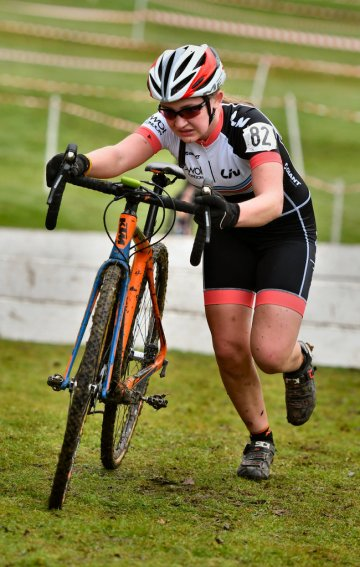 Charlotte McGreevy at E&SE CX Regional Championships (photo: John Orbea)