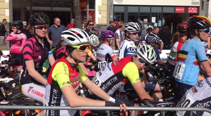 Zoe Brookes - hiding amongst many national team riders - Stage 3 HAT 2018 (photo: Pip Brookes)