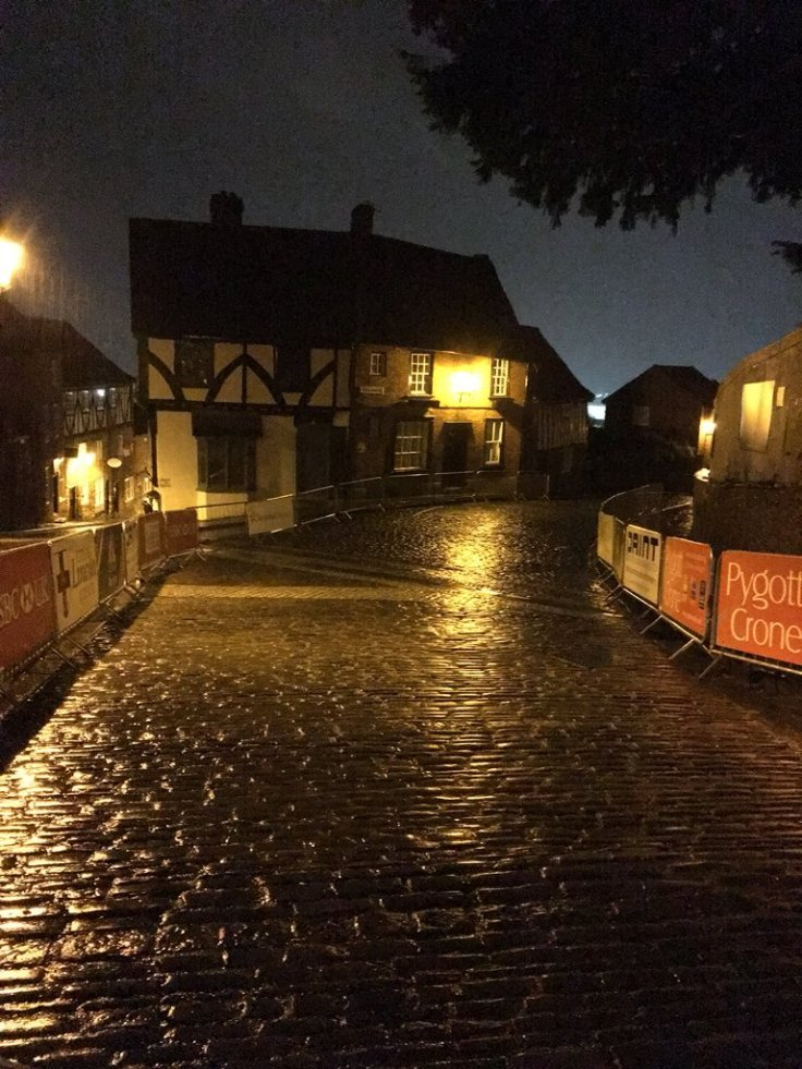 A wet Michaelgate the night before - Lincoln GP 2018 (photo: John Scale)
