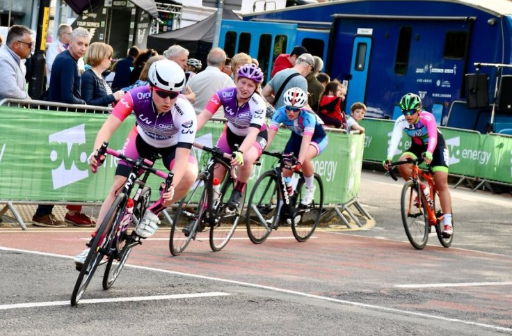 Connie Hayes and Poppy Wildman - OVO Tour Series Redditch 2018 (photo: John Scale)
