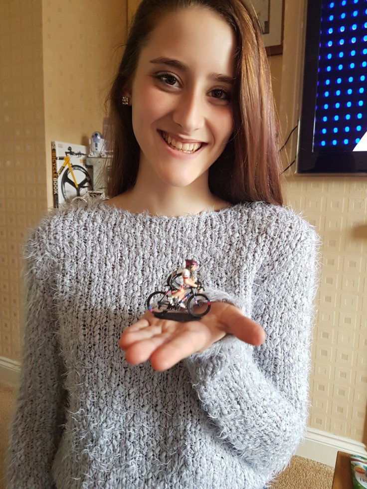 Lauren Higham with her mini me model (photo: Rachel Higham)