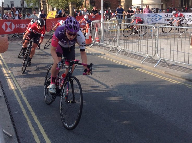 Connie Hayes at National Crit Championships 2018 (photo: Pip Brookes)