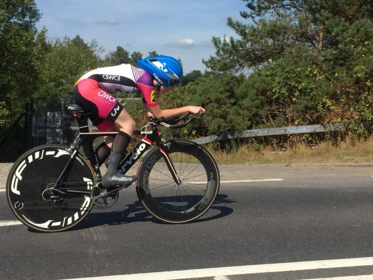 Savannah Hewson - at National Championship 25 mile TT