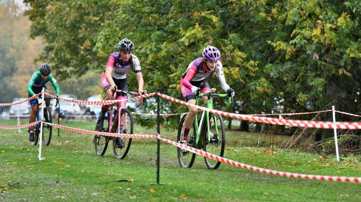 Harley Pell and Lauren Higham - Welwyn CX 2018 (photo © John Orbea)