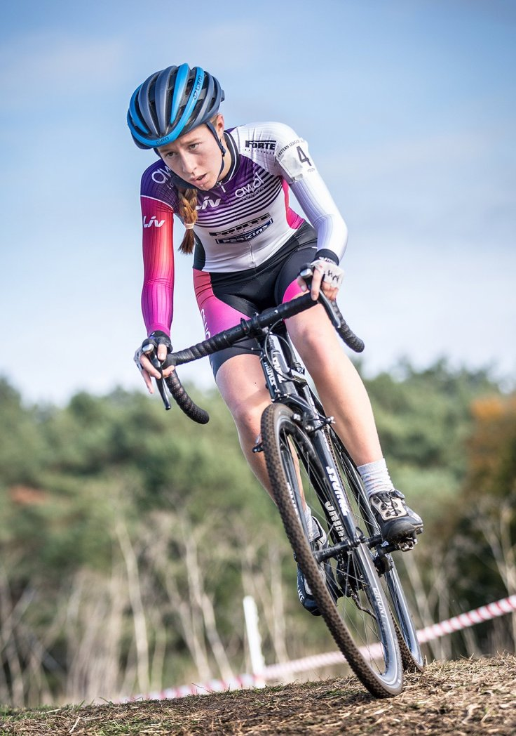 Bethany Barnett - West Suffolk Cyclocross 2018 win (photo © Huw Williams)