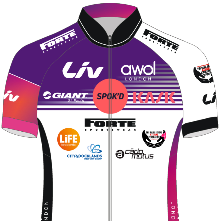 front shirt with all sponsors - layers with zip on front - square