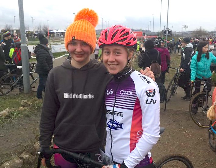 Charlotte McGreevy and Bethany Barnett at National CX Championships