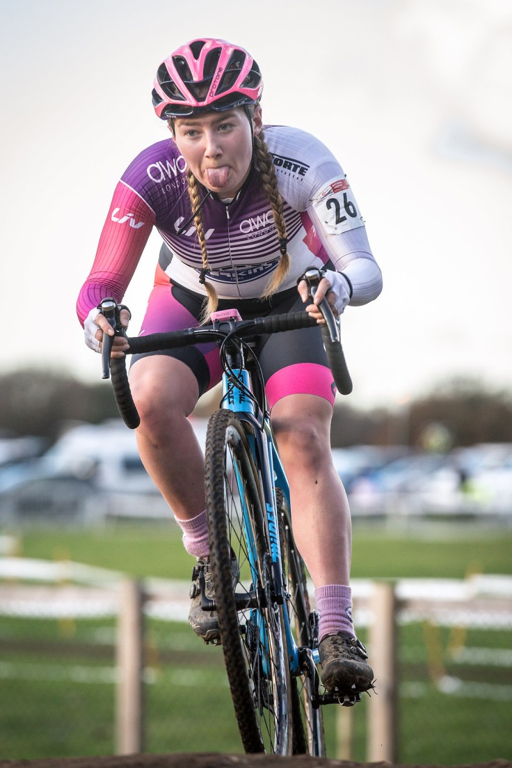 Connie Hayes at National CX Ipswich (photo © Huw Williams)