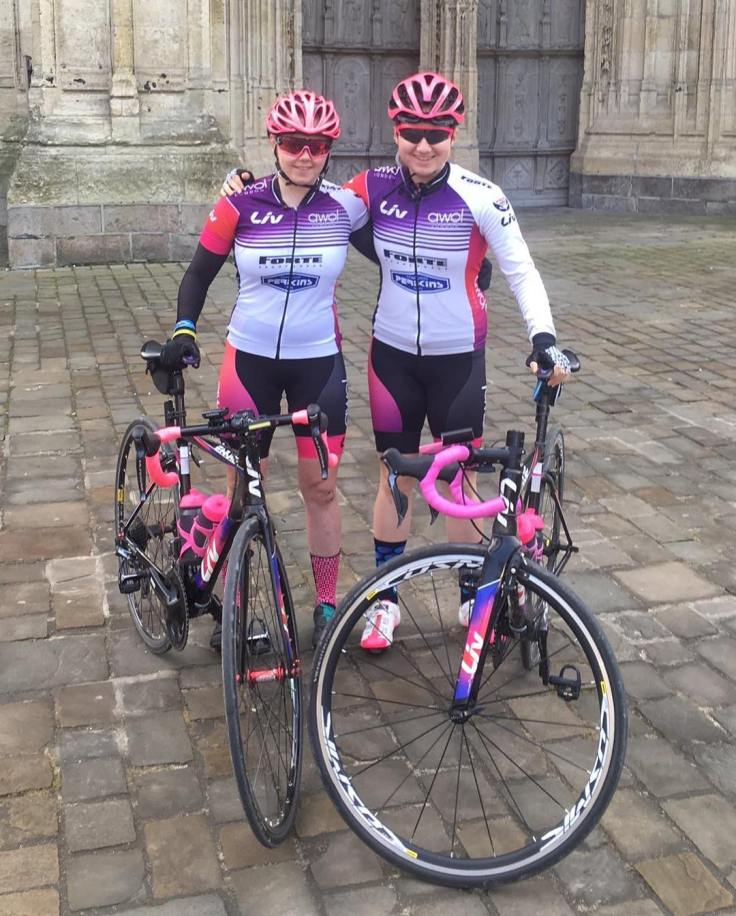Connie Hayes & Emily Ashwood training in France