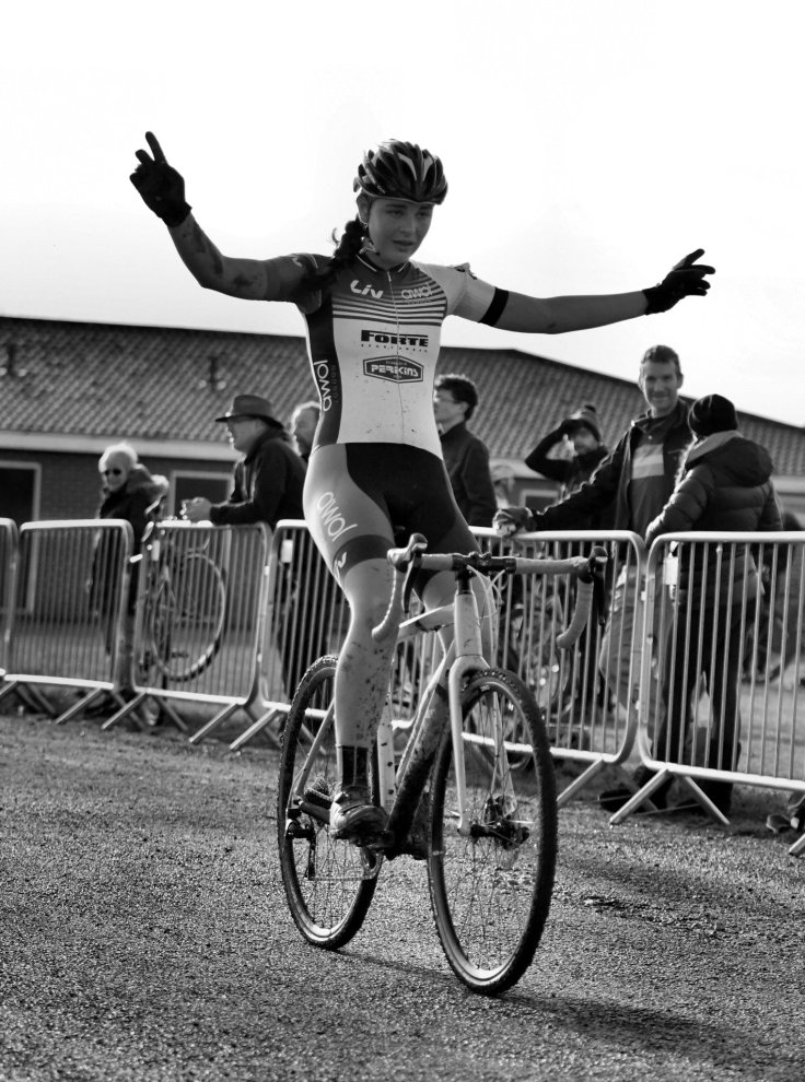 Harley Pell winning at Ipswich Eastern CX (photo © John Orbea)