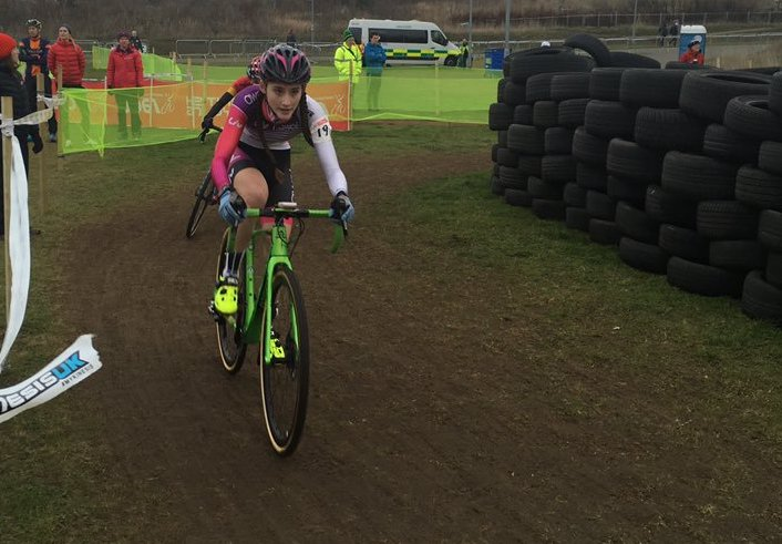 Lauren Higham at National CX Championships