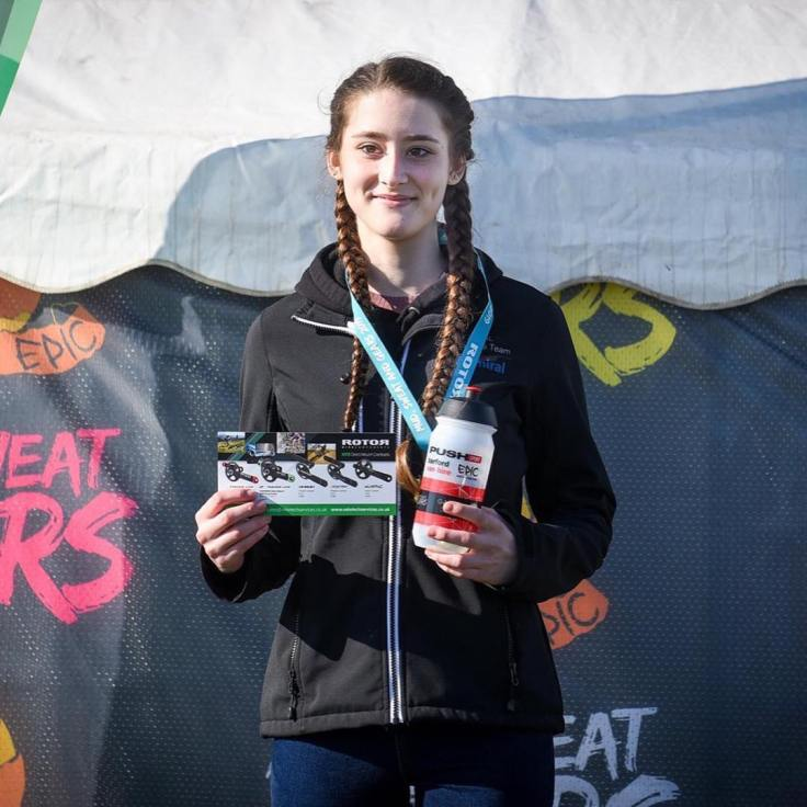 Lauren Higham - 1st at Mud Sweat and Gears